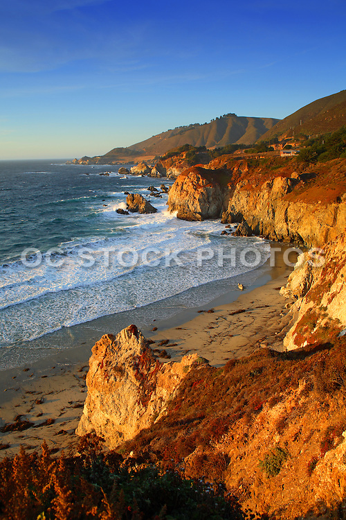 Afternoon Sun on the Bluffs in Big Sur California
