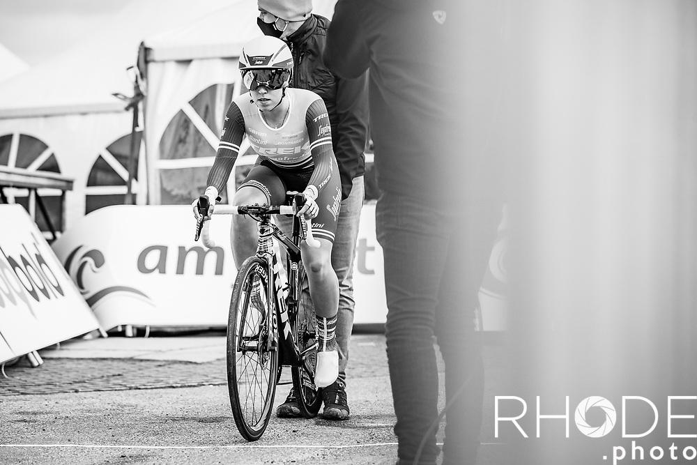 Shirin Van Anrooij (NED/Trek Segafredo)<br /> <br /> Healthy Ageing Tour (NED) 2021<br /> UCI Women Elite 2.1<br /> Stage 2 : Individual Time Trial (ITT) – Lauwersoog – Het Hoogeland 14.4km<br /> <br /> ©RhodePhoto