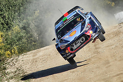 May 20, 2017 - Portugal - HAYDEN PADDON and co-driver SEBASTIAN MARSHALL push hard in their Hyundai i20 WRC after electrical faults Saturday short-circuited their Rally Portugal challenge, during World Rally Championship competition. (Credit Image: © Panoramic via ZUMA Press)