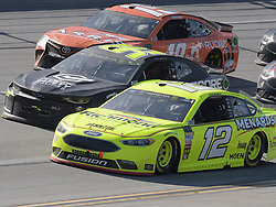 April 29, 2018 - Talladega, AL, U.S. - TALLADEGA, AL - APRIL 29: Daniel Suarez, Joe Gibbs Racing, Toyota Camry ARRIS (19), Kasey Kahne, Leavine Family Racing, Chevrolet Camaro Procore Safety Certified (95) and Daniel Suarez, Joe Gibbs Racing, Toyota Camry ARRIS (19) race through the trip-oval during the Monster Energy Cup Series 49th Annual Geico 500 on April 29, 2018, at Talladega Superspeedway in Talladega, AL. (Photo by Jeffrey Vest/Icon Sportswire) (Credit Image: © Jeffrey Vest/Icon SMI via ZUMA Press)