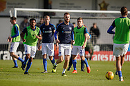 Portsmouth warm up prior to the The FA Cup 1st round match between Maidenhead United and Portsmouth at York Road, Maidenhead, United Kingdom on 10 November 2018.