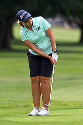 June 16, 2018 - Belmont, Michigan, United States - Ashleigh Buhai of Johannesburg, South Africa follows her putt on the 16th green during the third round of the Meijer LPGA Classic golf tournament at Blythefield Country Club in Belmont, MI, USA  Saturday, June 16, 2018. (Credit Image: © Amy Lemus/NurPhoto via ZUMA Press)