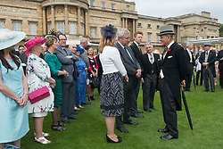 May 16, 2017 - London, England, United Kingdom - PRINCE PHILIP, The Duke of Edinburgh at a Garden party at Buckingham Palace. Philip announced earlier in May he is to retire from public duties after the summer. (Credit Image: © Rota/i-Images via ZUMA Press)