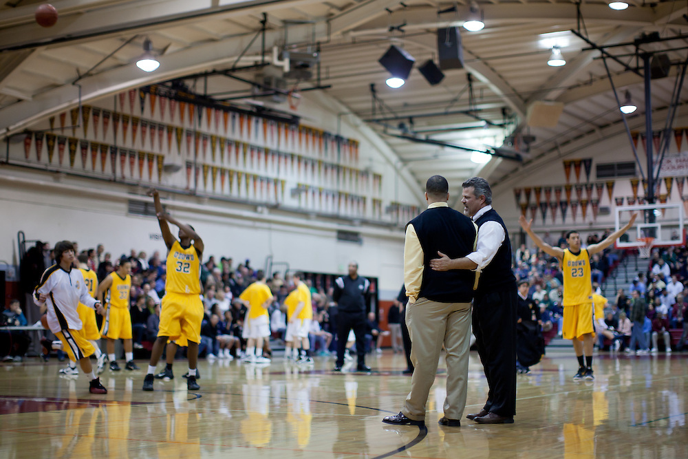 The 2011 NCS Boys Basketball Section Champions San Marin High School Mustangs lost to Bishop O'Dowd 52-49 during the CIF NorCal State Tournament at Redwood High School's Roark Gymnasium on March 12, 2011.