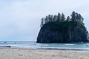 Seastack, Rialto Beach, Olympic National Park, Washington, USA.