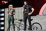 Photo of Hugh Jackman and Chelsea Handler at Global Citizen Festival in Central Park, NYC on September 24, 2016. © Matthew Eisman. All Rights Reserved