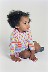 Portrait of young girl looking sad,