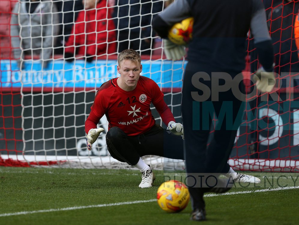 Aaron Ramsdale of Sheffield Utd during the English League One match at Bramall Lane Stadium, Sheffield. Picture date: December 26th, 2016. Pic Simon Bellis/Sportimage