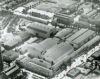 1934 Aerial view of United Artist Studios. Formerly Pickford Fairbanks Studio