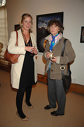 Left to right, FLORA FAIRBAIRN and LINDY, MARCHIONESS OF DUFFERIN & AVA at a private view of Paul Simonon's recent paintings held at Thomas Williams Fine Art, 22 Old Bond Street, London on 15th April 2008.<br /><br />NON EXCLUSIVE - WORLD RIGHTS