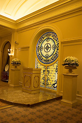 Nevada, NV, Las Vegas, city, wedding chapel, Tuscano, Caesars Palace Hotel and Casino, altar, stained glass, Photo nv271-17079.  .Copyright: Lee Foster, www.fostertravel.com, 510-549-2202,lee@fostertravel.com