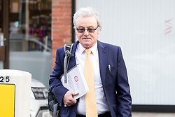 © Licensed to London News Pictures. 15/11/2017. Wakefield, UK. Don Maguire (Husband of Ann Maguire) arrives for the third day of the Ann Maguire inquest at Wakefield Coroners Court this morning. Mrs Maguire, a 61 year old Spanish teacher, was stabbed to death by Will Cornick at Corpus Christi Catholic College in Leeds in April 2014. The school pupil, who was 15 at the time, admitted murdering Mrs Maguire and was given a life sentence later that year. Since then, some of Mrs Maguire's family have campaigned for further investigation into her death as they believe more could have been done to prevent the tragedy. Photo credit: Andrew McCaren/LNP