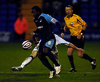Photo: Jed Wee/Sportsbeat Images.<br /> Tranmere Rovers v Swansea City. Coca Cola League 1. 24/11/2007.<br /> <br /> Swansea's Jason Scotland goes on the attack.