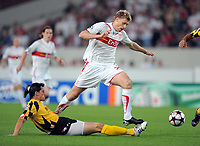 v.l. Marian Cisoskv , Pavel Pogrebnyak VfB<br /> UEFA Champions League Play-Off Rueckspiel VfB Stuttgart - FC Timisoara<br /> <br /> Norway only