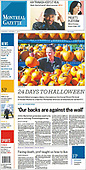 October 07, 2021 - CANADA: Front-page: Today's Newspapers In Canada