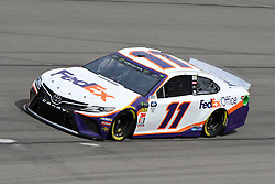 March 1, 2019 - Las Vegas, NV, U.S. - LAS VEGAS, NV - MARCH 01: Denny Hamlin (11) Joe Gibbs Racing (JGR) Toyota Camry drives through turn four during practice for the Monster Energy NASCAR Cup Series 22nd Annual Pennzoil 400 on March 1, 2019, at the Las Vegas Motor Speedway in Las Vegas, Nevada. (Photo by Michael Allio/Icon Sportswire) (Credit Image: © Michael Allio/Icon SMI via ZUMA Press)