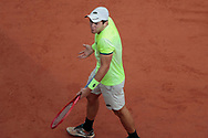 Dominik Koepfer (ALL) reacted angry during the Roland Garros 2020, Grand Slam tennis tournament, on September 30, 2020 at Roland Garros stadium in Paris, France - Photo Stephane Allaman / ProSportsImages / DPPI