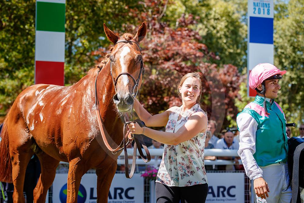 Finche (V. Cheminaud) wins Prix Valparaiso Sporting Club - Prix de Reux Gr.3 in Deauville, 05/08/2018, photo: Zuzanna Lupa