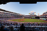 A general view of Target Field during a game between the Minnesota Twins and Detroit Tigers on August 26, 2011 in Minneapolis, Minnesota.