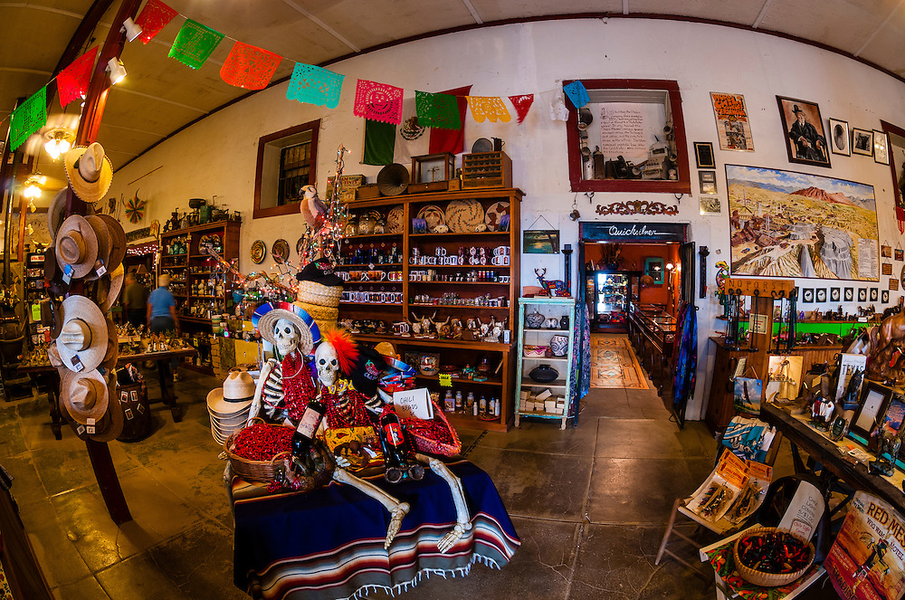 Day of the Dead Handicrafts, Terlingua Trading Company, Terlingua ghosttown, near Big Bend National Park, Texas USA.