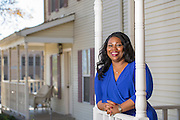 Kim Lacy outside the Ronald McDonald house for Savvy Kids Magazine in Little Rock, Arkansas.