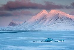 Hornsund in March, Spitsbergen. Svalbard, Norway