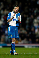 Fotball<br /> England 2004/2005<br /> Foto: SBI/Digitalsport<br /> NORWAY ONLY<br /> <br /> Blackburn v Bolton, FA Barclays Premiership, Ewood Park, 24/01/05<br /> <br /> Blackburn's Robbie Savage's new start at his new club doesn't get off to the best of starts.