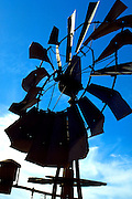 Windmill doing its work on a Minnesota farm.  Minnesota USA