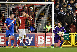 Doncaster Rovers Marko Marosi saves a City shot at goal during the FA Cup third round replay between Bristol City and Doncaster Rovers at Ashton Gate on January 13, 2015 in Bristol, England. - Photo mandatory by-line: Paul Knight/JMP - Mobile: 07966 386802 - 13/01/2015 - SPORT - Football - Bristol - Ashton Gate Stadium - Bristol City v Doncaster Rovers - FA Cup third round replay