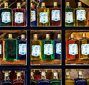 Fragrance compound in a perfumery shop, Gordon, Provence, France