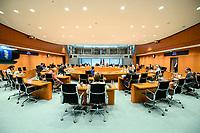 02 SEP 2020, BERLIN/GERMANY:<br /> Uebersicht SItzung des Kabinetts im grossen Sitzungssaal, der aufgrund der Corona-Vorgaben fuer die Kabinettsitzung genutzt wird, Budneskanzleramt<br /> IMAGE: 20200902-01-039<br /> KEYWORDS: Sitzung, Kabinett, Übersicht