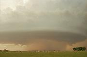 A storm forms in Tornado Alley, Oklahoma, USA
