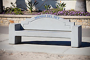 Marina Del Rey Bench at the Beach