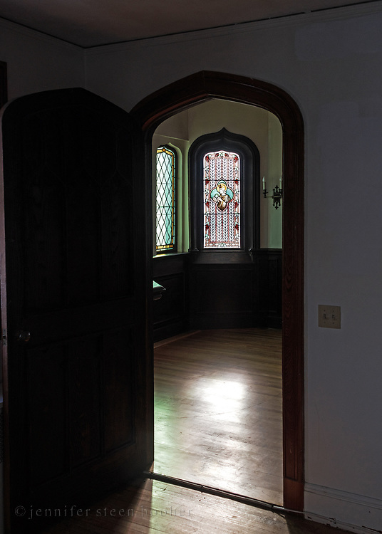 Window 2 on plan.<br /> St. Edward's Convent, Bar Harbor, Maine.