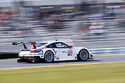 January 24-27, 2019. IMSA Weathertech Series ROLEX Daytona 24.  #912 Porsche GT Team Porsche 911 RSR, GTLM: Mathieu Jaminet, Earl Bamber , Brumos throwback livery