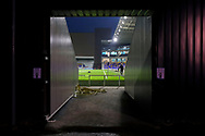 Entrance to the pitch during the EFL Sky Bet League 1 match between AFC Wimbledon and Peterborough United at Plough Lane, London, United Kingdom on 2 December 2020.