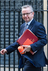 London, January 16 2018. Secretary of State for Environment, Food and Rural Affairs Michael Gove leaves the UK cabinet meeting at Downing Street. © Paul Davey