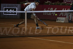 May 4, 2018 - Lisbon, Portugal - Nicolas Jarry in action during the Millennium Estoril Open tennis tournament in Estoril, outskirts of Lisbon, Portugal on May 4, 2018  (Credit Image: © Carlos Costa/NurPhoto via ZUMA Press)