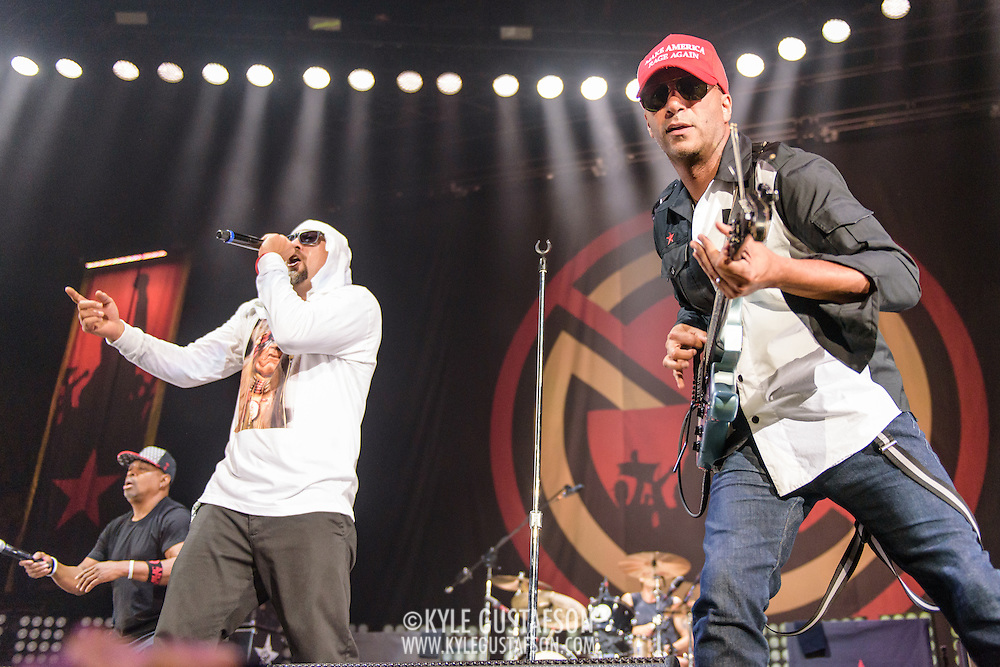 FAIRFAX, VA - August 19th, 2016 - Prophets of Rage perform at EagleBank Arena on the campus of George Mason University on the opening night of their Make America Rage Again Tour. (Photo by Kyle Gustafson)
