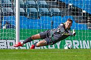 Gillingham FC goalkeeper Jack Bonham (1) makes a save during the EFL Cup match between Gillingham and Southend United at the MEMS Priestfield Stadium, Gillingham, England on 5 September 2020.