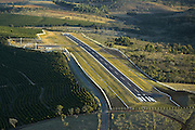 Frutal_MG, Brasil...Aereas da conclusao da obra do Aeroporto de Oliveira...Arial view of the construction in the Oliveira airport...Foto: BRUNO MAGALHAES /  NITRO