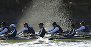 PUTNEY, LONDON, ENGLAND, 05.03.2006, Oxford vs USA crew   Pre 2006 Boat Race Fixtures,.   © Peter Spurrier/Intersport-images.com.OUBC, Bow Robin Esjmond-Frey, No.2 Colin Smith, No.3 Jake Wetzel, No.4 Paul Daniels, No.5 James Schroeder. No.6 Barney Williams, No. 7 Tom Parker, stroke Bastien Ripoll, and cox Nick Brodie,..[Mandatory Credit Peter Spurrier/ Intersport Images] Varsity Boat Race, Rowing Course: River Thames, Championship course, Putney to Mortlake 4.25 Miles Sunrise, Sunsets, Silhouettes © Peter SPURRIER, Atmospheric, Rowing