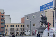 Jan. 27, 2015 - Prishtina, Kosovo - Kosovo Police launched its protective operation on the main square in Pristina, Kosovo's capital city at early Tuesday, January 27, 2015, after 'Vetevendosje party ultimatum expired yesterday at 16:00 hours. Last week some of Vetevendosje protesters clashed with police after they threw stones over the government building breaking its windows. (Credit Image: © Vedat Xhymshiti/ZUMA Wire)