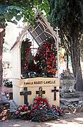Grave for family Famille Magot-Lamelle,  Cahors, Lot department, south west France 1976
