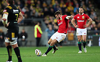 Rugby Union - 2017 British & Irish Lions Tour of New Zealand - Hurricanes vs. British & Irish Lions<br /> <br /> Dan Biggar of The British and Irish Lions kicks a conversion at Westpac Stadium, Wellington.<br /> <br /> COLORSPORT/LYNNE CAMERON
