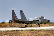Israeli Air force F-15C Fighter jet at takeoff