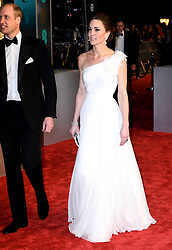The Duke and Duchess of Cambridge attending the 72nd British Academy Film Awards held at the Royal Albert Hall, Kensington Gore, Kensington, London