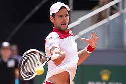 May 9, 2018 - Madrid, Spain - Serbian Novak Djokovic during Mutua Madrid Open 2018 at Caja Magica in Madrid, Spain. May 09, 2018. (ALTERPHOTOS/Borja B.Hojas) (Credit Image: © Coolmedia/NurPhoto via ZUMA Press)