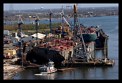 8th Sept, 2005. Hurricane Katrina aftermath. New Orleans. The port of New Orleans sustained major damage due to the storm with potentially massive repercussions for the USA and the rest of the world.