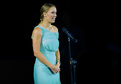 September 29, 2018 - Caroline Wozniacki of Denmark during the opening ceremony of the 2018 China Open WTA Premier Mandatory tennis tournament (Credit Image: © AFP7 via ZUMA Wire)